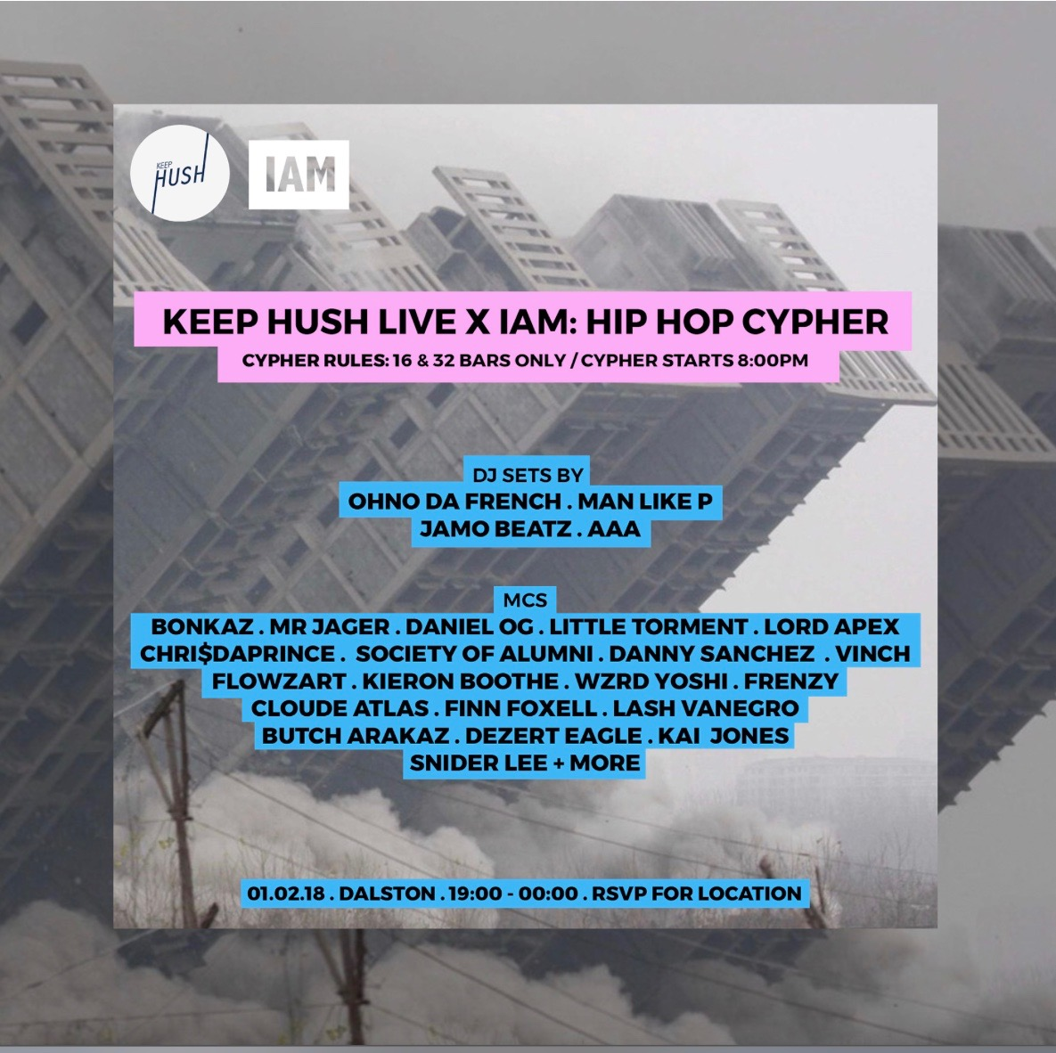 Keep Hush Live X IAM: Hip Hop Cypher « JAGUARSHOES COLLECTIVE